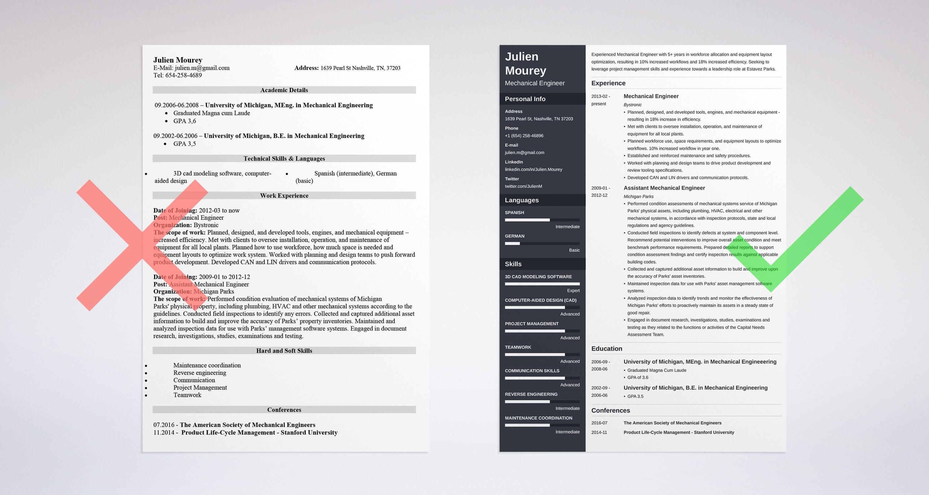 Mechanical Engineering Resume Guide With Sample 20 Examples In