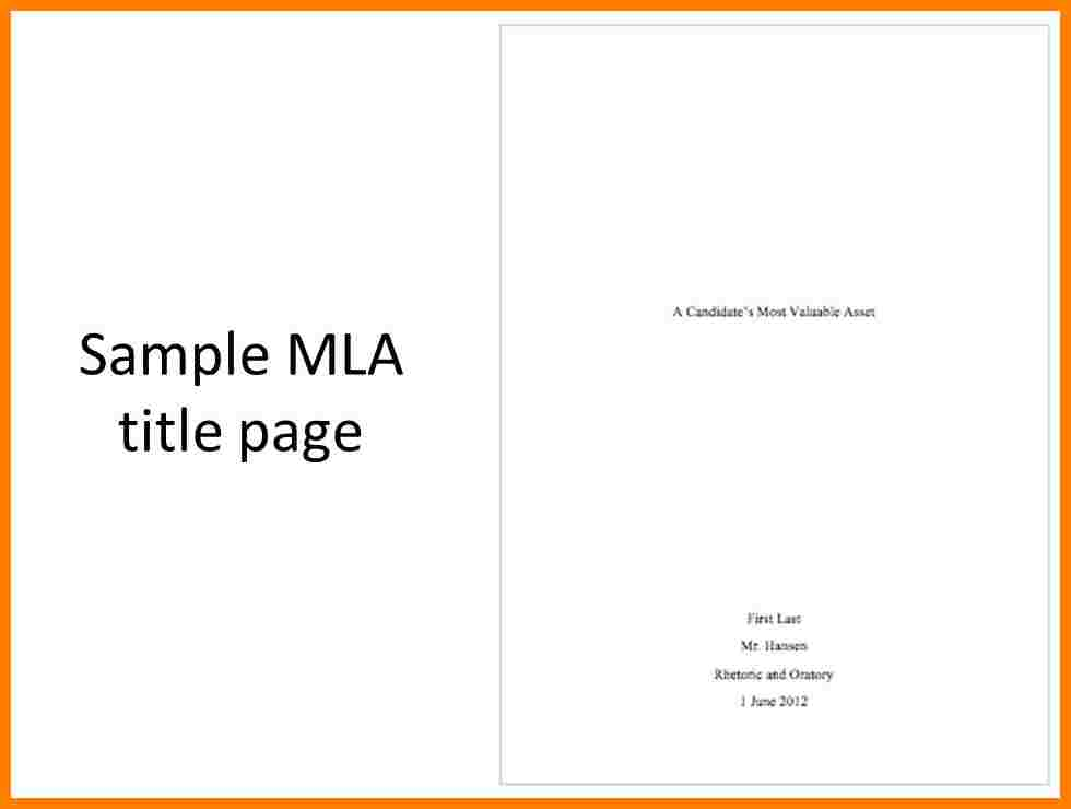cover sheet mla format sample
