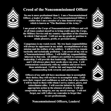 Any NCO can read the creed but do they live by it. | RallyPoint