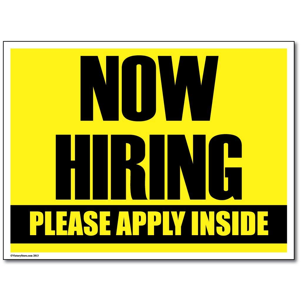 Amazon.: Help Wanted Retail Sign Now Hiring Signs