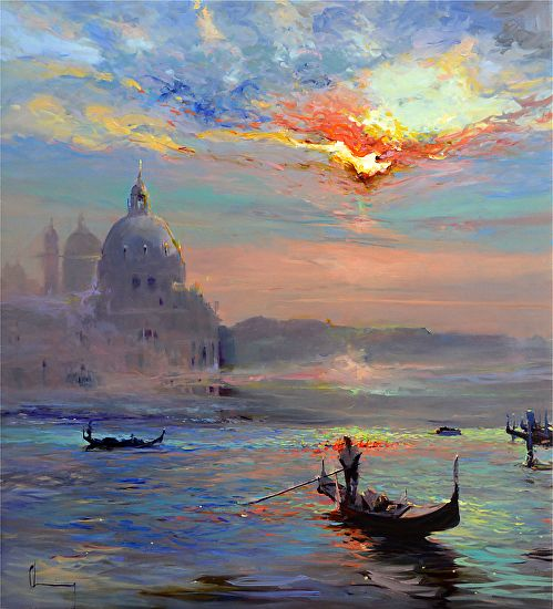Chuck Larivey Venice another time Oil Painting entry May