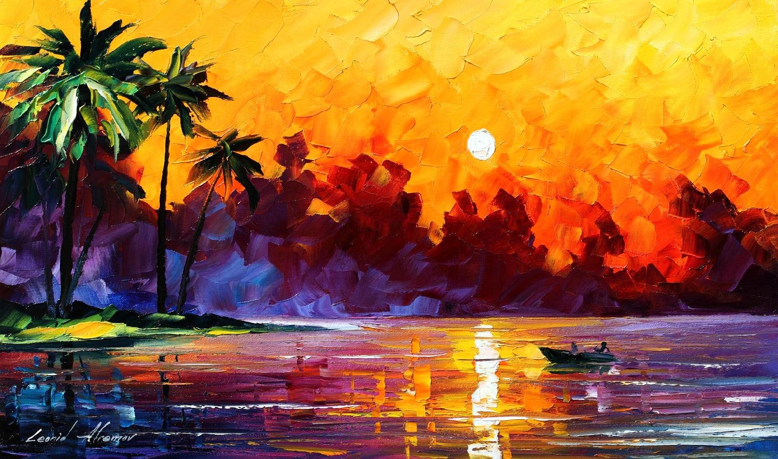 PUNTA ALLEN ,TULUM, MEXICO — PALETTE KNIFE Oil Painting On Canvas