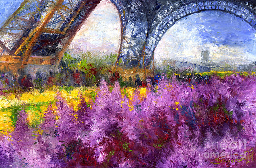 Paris Tour Eiffel 01 Painting by Yuriy Shevchuk