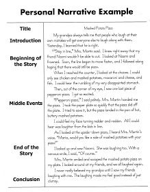 Personal Narrative Essay Sample | 5th grade writing ideas