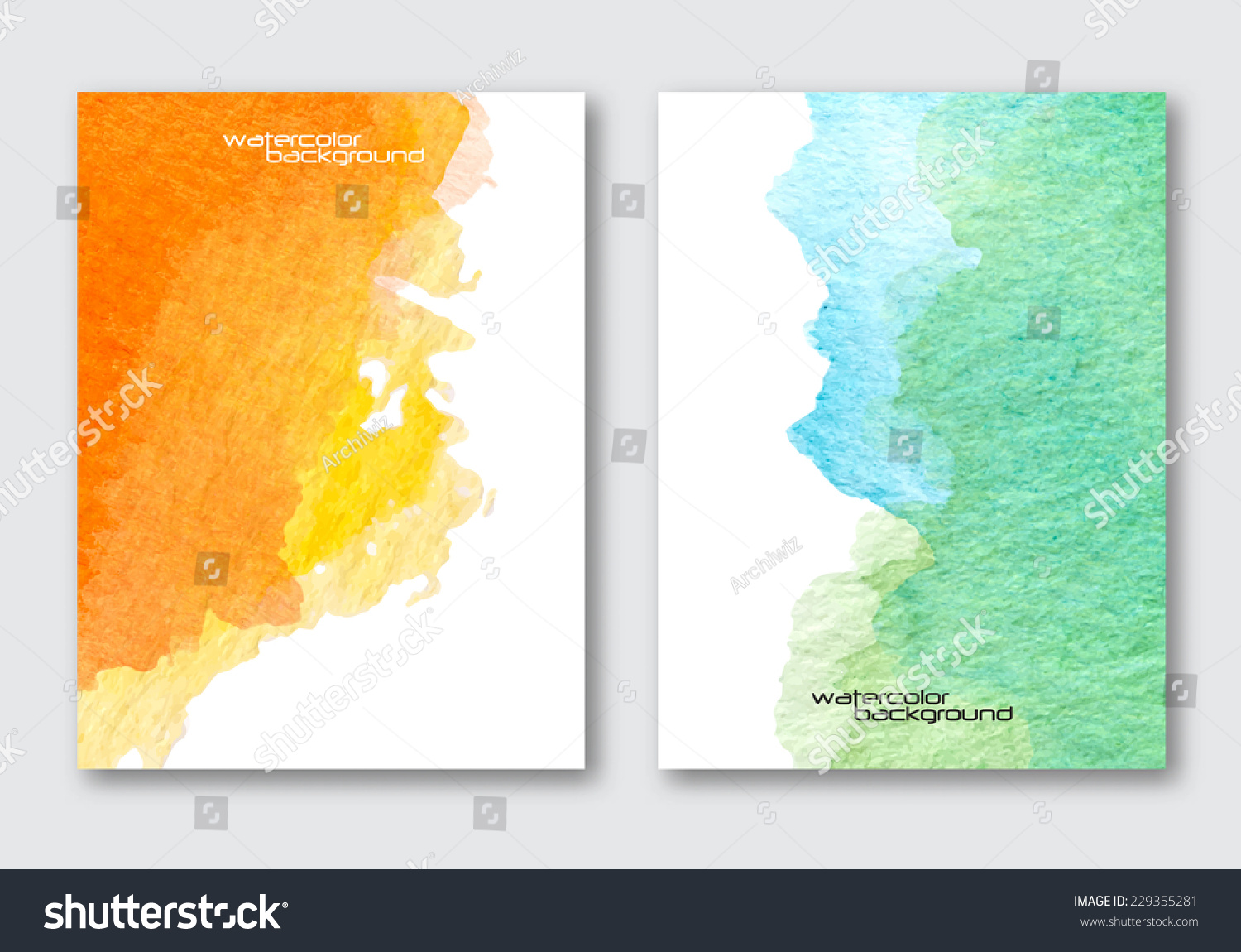 Vector Poster Template Hand Drawn Watercolor Stock Vector HD