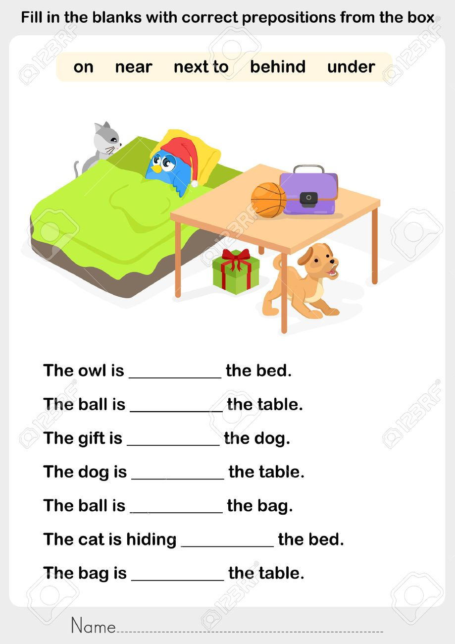 Preposition Worksheets & Free Printables | Education.com