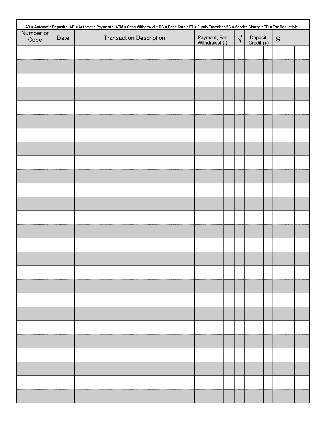 Checkbook Register Freebie Printable Clean Mama