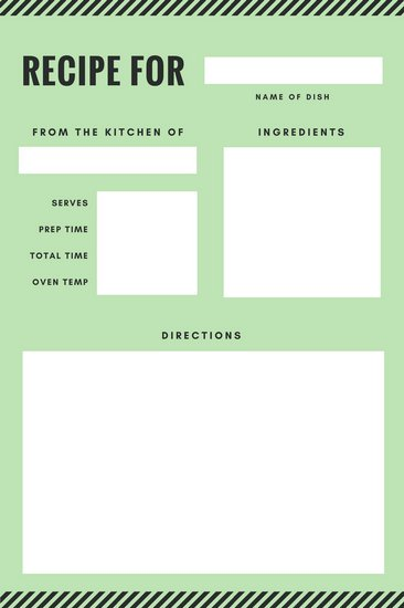 Customize 9,492+ Recipe Card templates online Canva