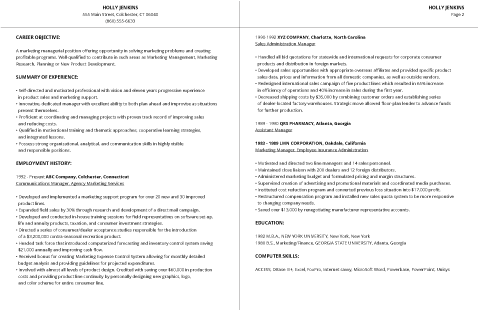 99+ Free Professional Resume Formats & Designs | LiveCareer