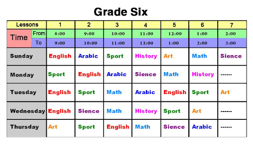 School Schedule Maker