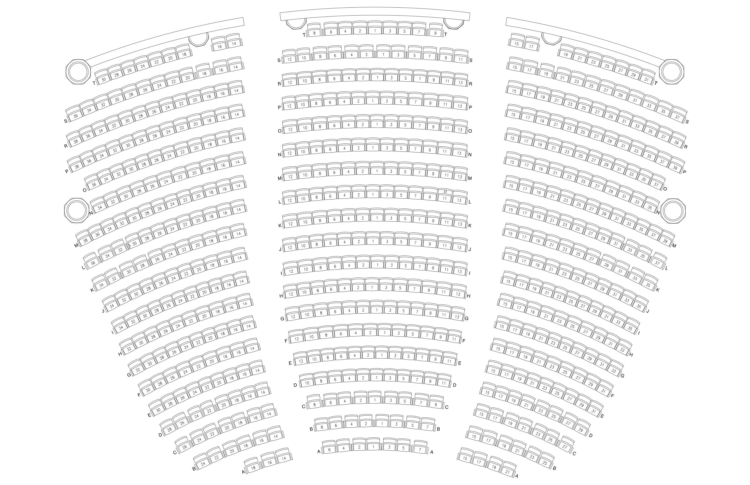 Seating Chart Lobero Theatre