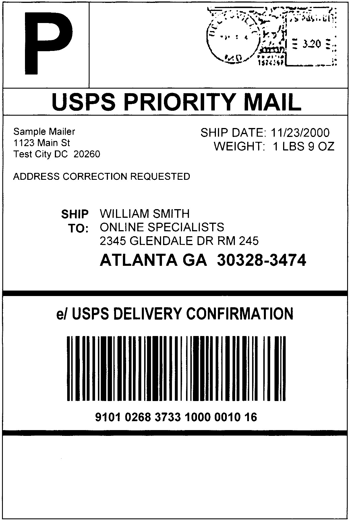 Beautiful Usps Shipping Label Template | anthonydeaton.com