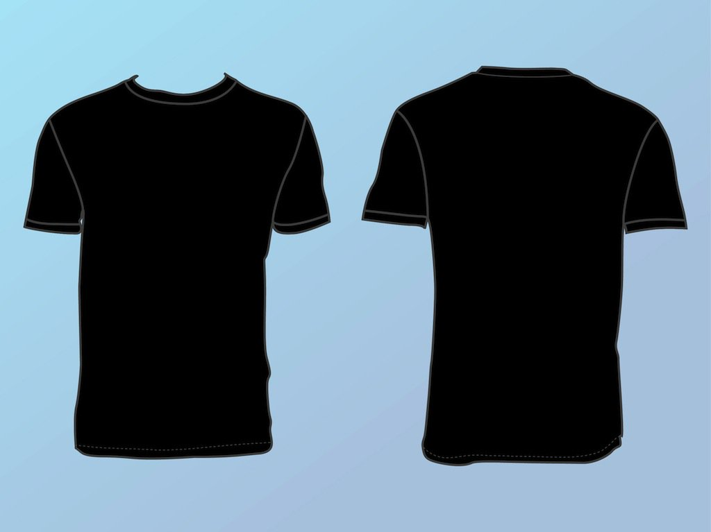 Basic T Shirt Template Vector Art & Graphics | freevector.com