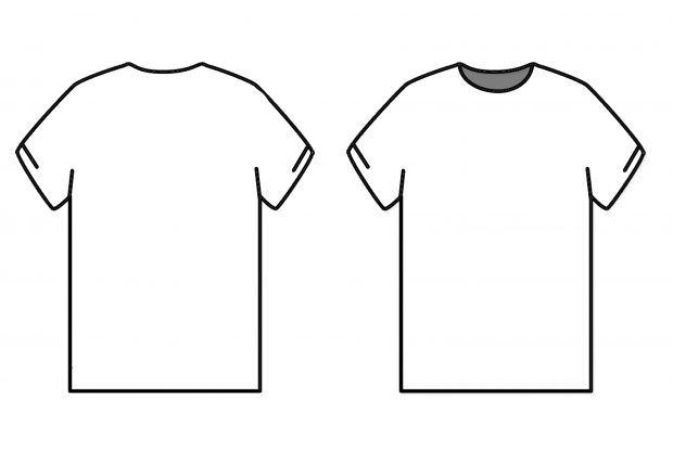 T shirt template psd impression photo design – ideastocker