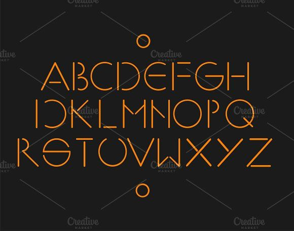 MInimalistic and simple font orange | Simple fonts and Fonts