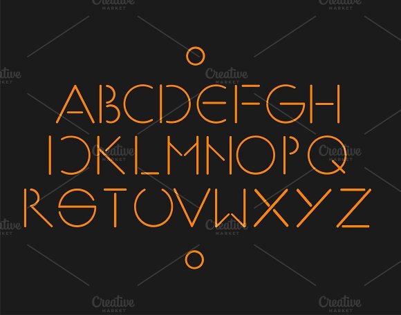 MInimalistic and simple font orange ~ Fonts ~ Creative Market