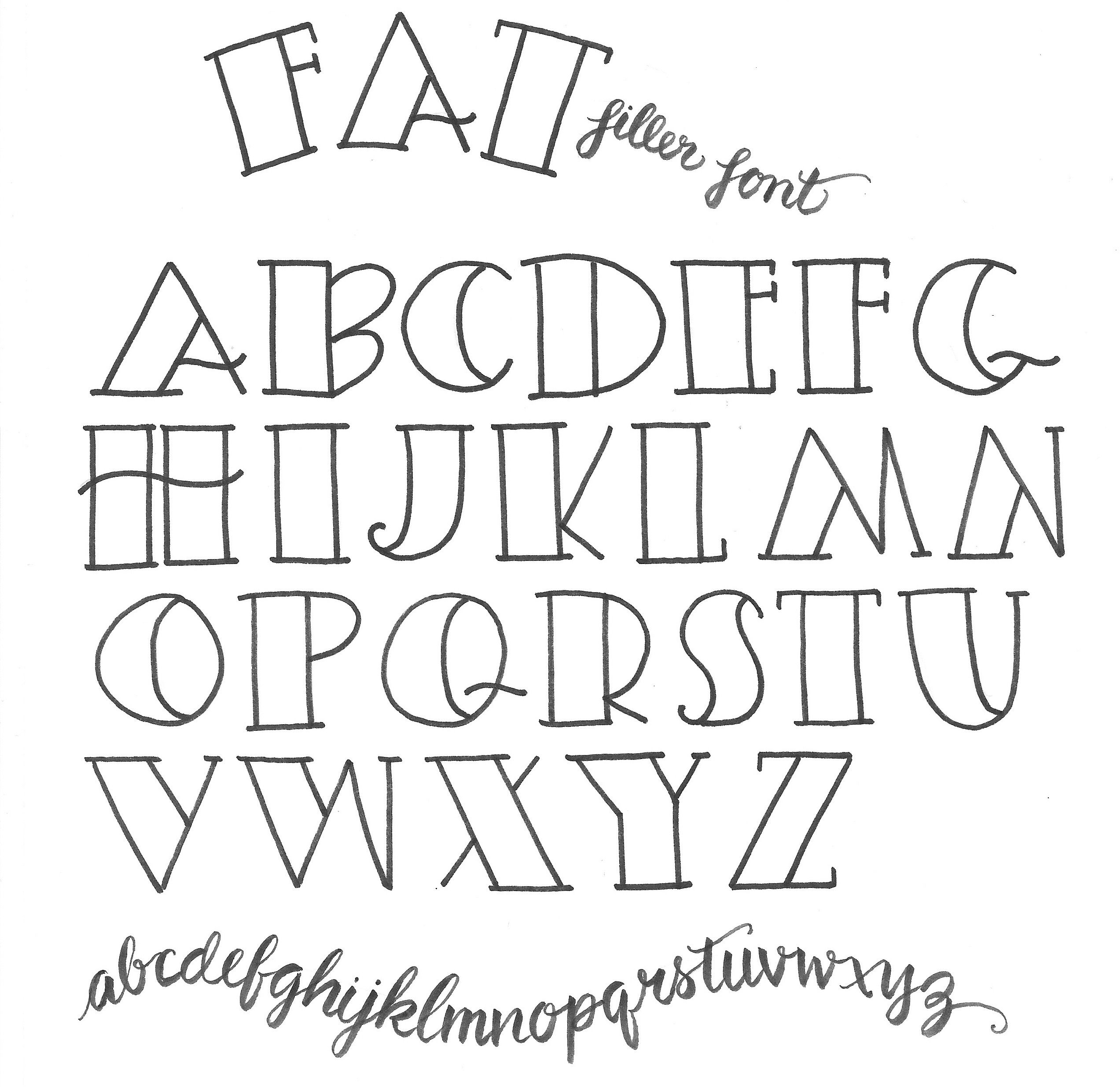 Simple Fonts Alphabet Lettering Lesson Plan For Teacher