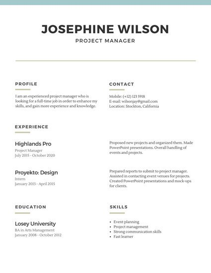 Customize 527+ Simple Resume templates online Canva