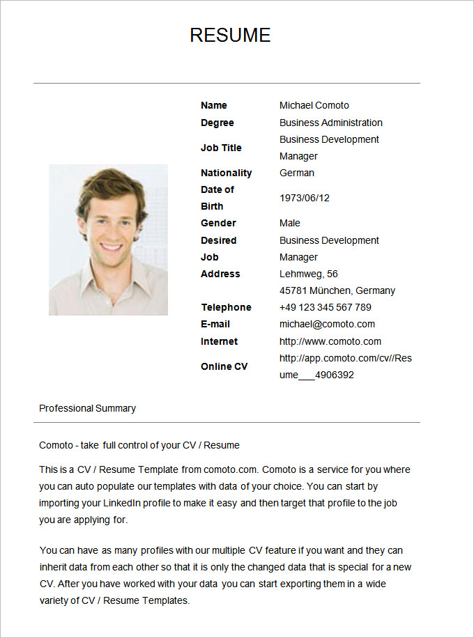 Simple Resumes Samples Safero Adways