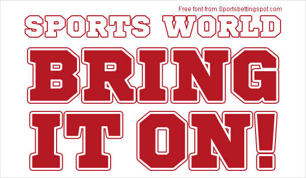 10 Best Free Fonts for Sports Fans | Blog Inspiration | Pinterest