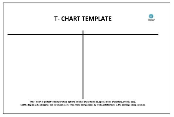 T Chart Template – 13+ Free Sample, Example, Format Download