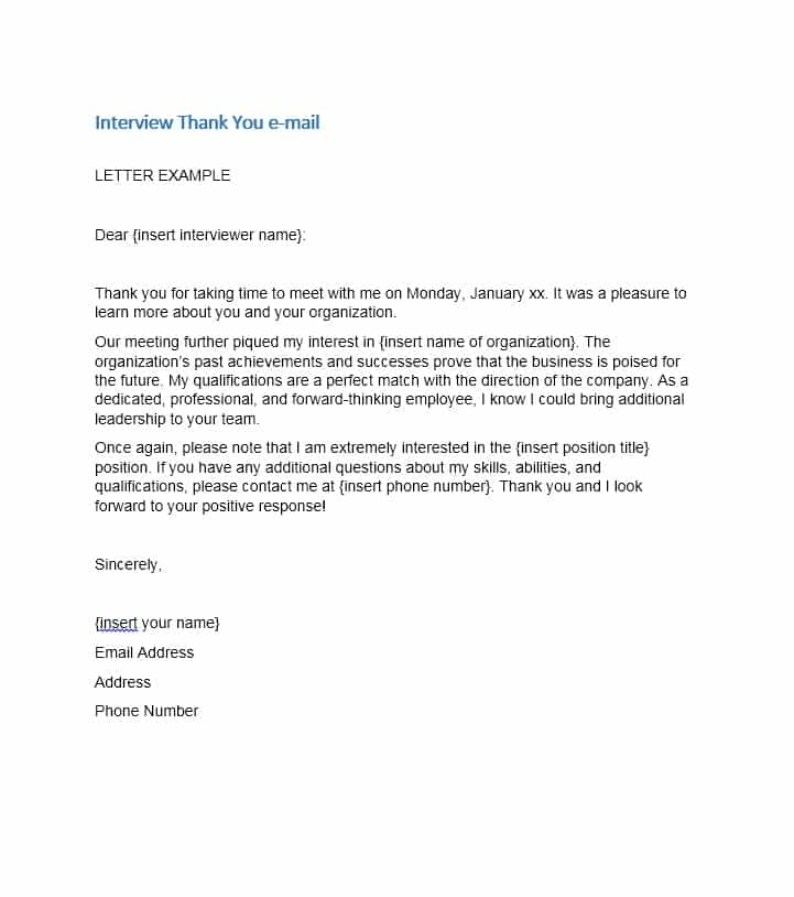 40 Thank You Email After Interview Templates Template Lab