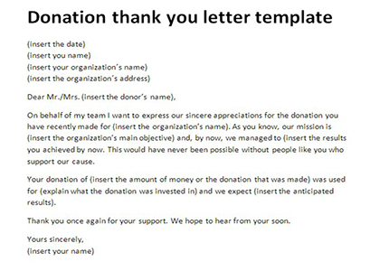 Thank You Letter for Donation – 9+ Free Word, Excel, PDF Format