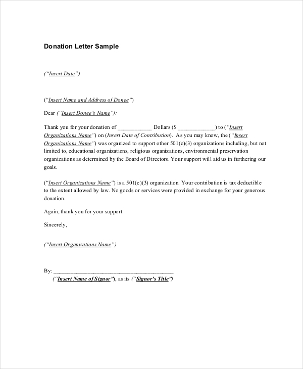 Donor Thank You Letter Template Gdyinglun.com
