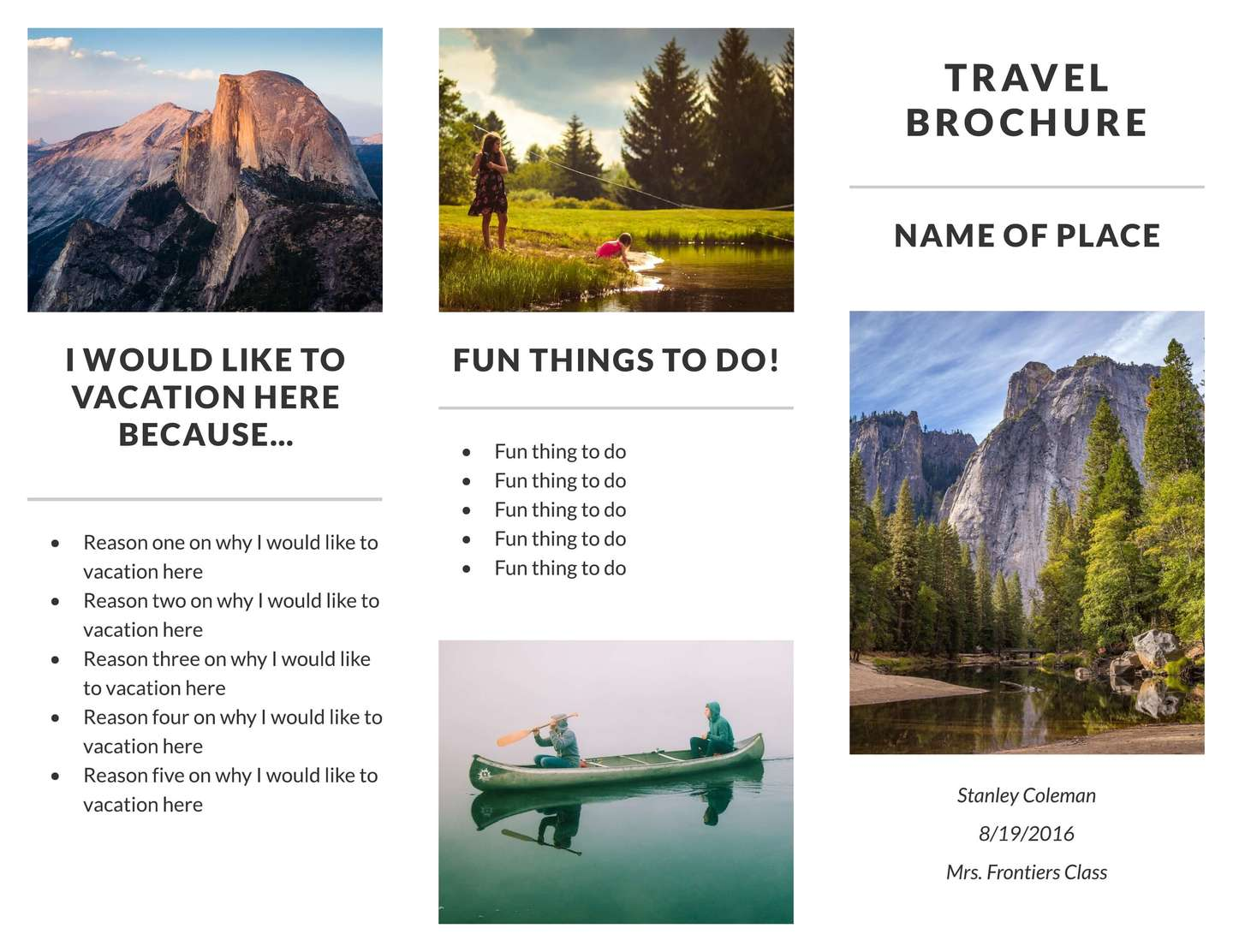 Free Travel Brochure Templates & Examples [8 Free Templates]