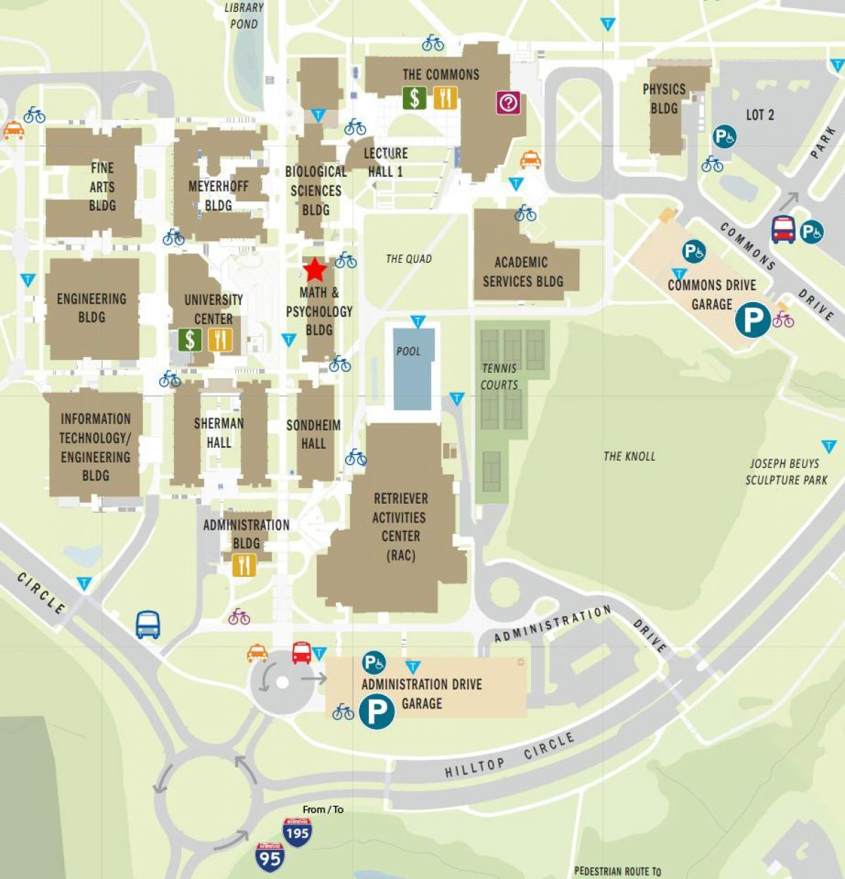 Emergency Phone Locations UMBC Police Department UMBC