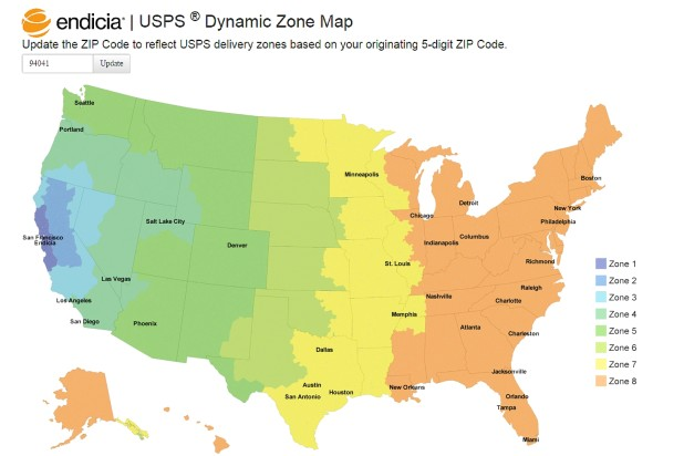Endicia's Dynamic Zone Map Takes the Guesswork Out of Delivery