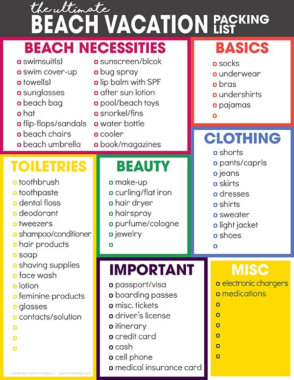 The Ultimate Beach Vacation Packing List | Beach vacation packing