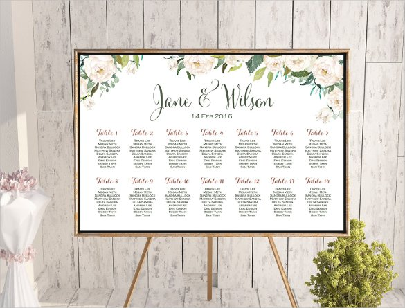 Seating Chart Template Wedding wedding seating chart template 34