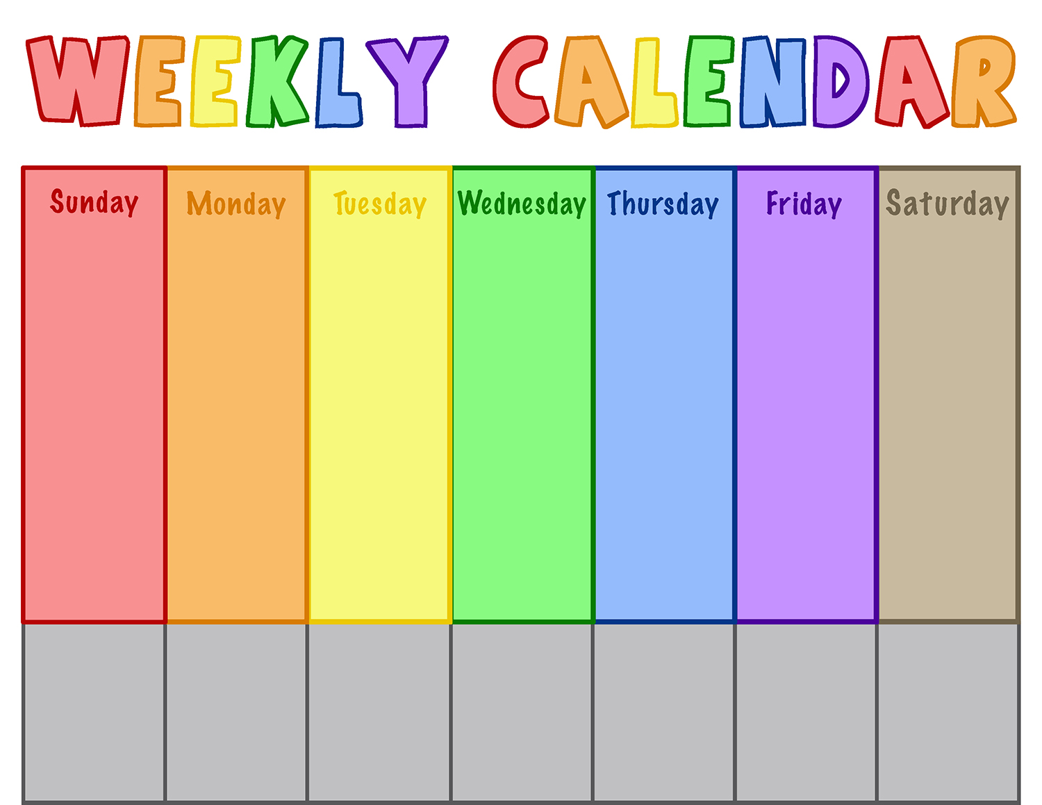 Weekly Calendar Download weekly calendar 2017 and 2018