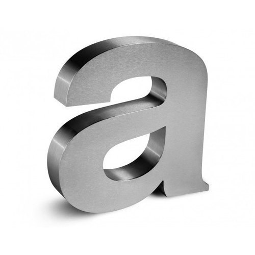 Stainless Steel 3D Letters WITH POWER SUPLY at Rs 90 /inch