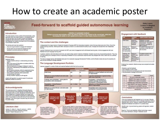 How to create an academic poster