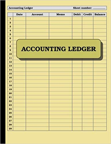 Accounting Ledger: 120 pages: Size = 8.5 x 11 inches (double sided