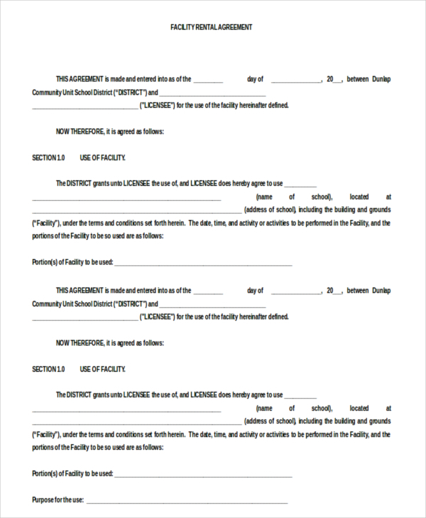 Blank Rental Agreement – 9+ Free Word, PDF Documents Download