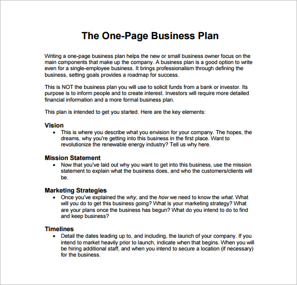 small business plan template free download business plan template