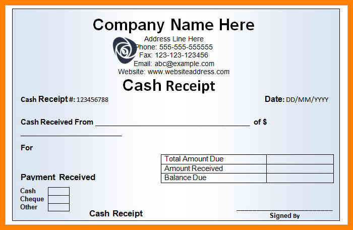 Basic Business Receipt Design For Cash Receipt : Vatansun