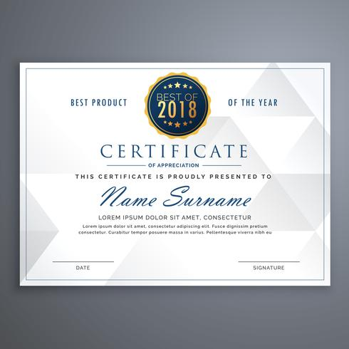 clean white certificate design template Download Free Vector Art