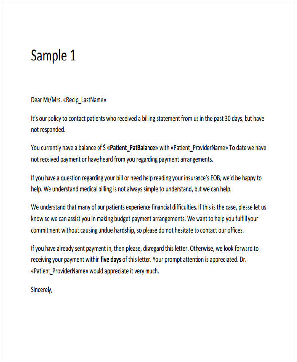 7+ Collection Letter Templates 7+ Free Sample, Example Format