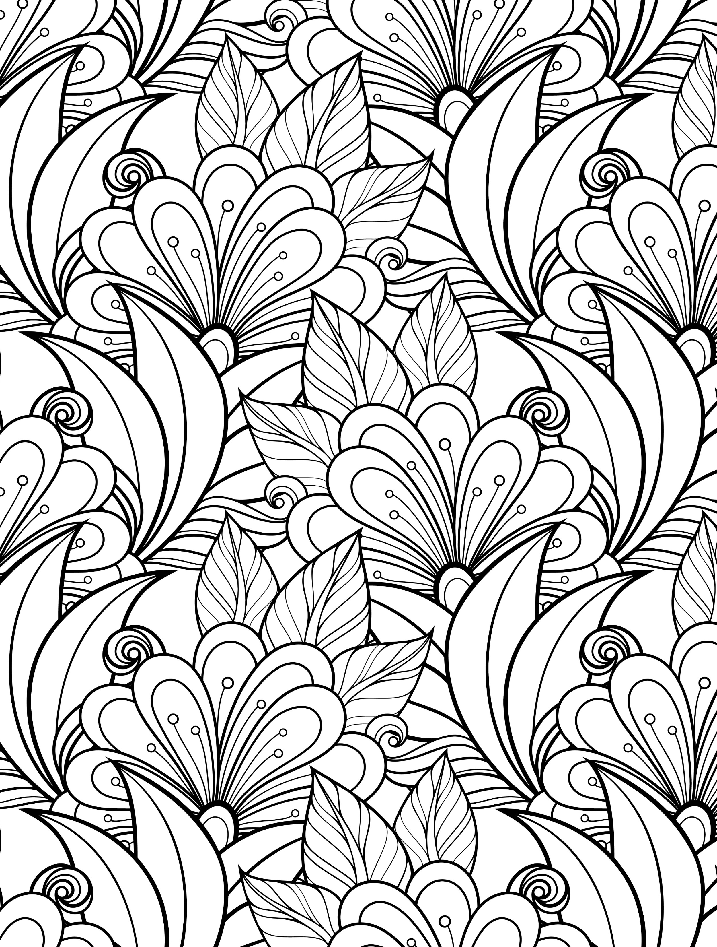 Refundable Coloring Book Printable 24 More Free Adult Pages Page 7