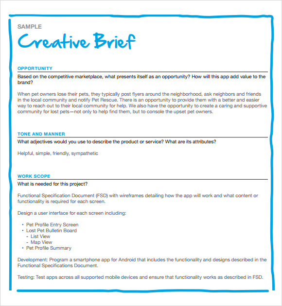 website design brief template pdf 10 creative brief samples sample
