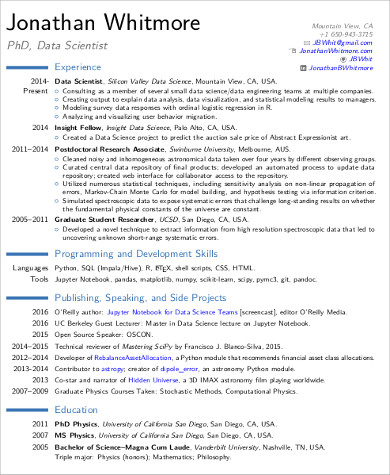 data scientist resume sample Kleo.beachfix.co