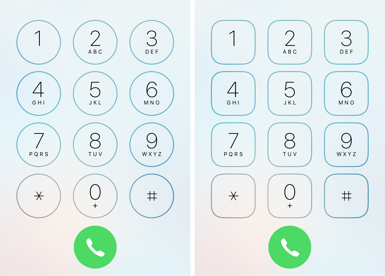 Reshape the Phone app's dial pad buttons with PhoneDialReformer