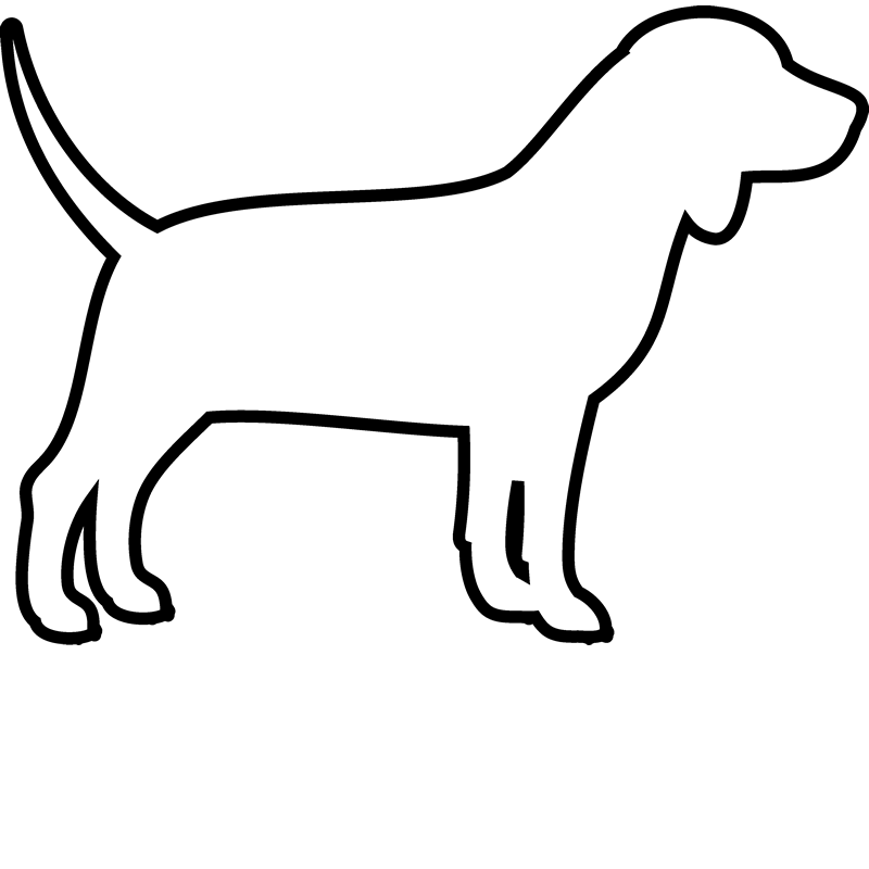 Dog outline Royalty Free Vector Image VectorStock