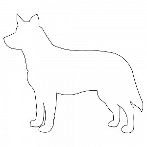 outline of a dog Kleo.beachfix.co