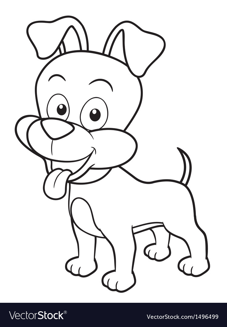 Dog Outline Images, Stock Photos & Vectors | Shutterstock