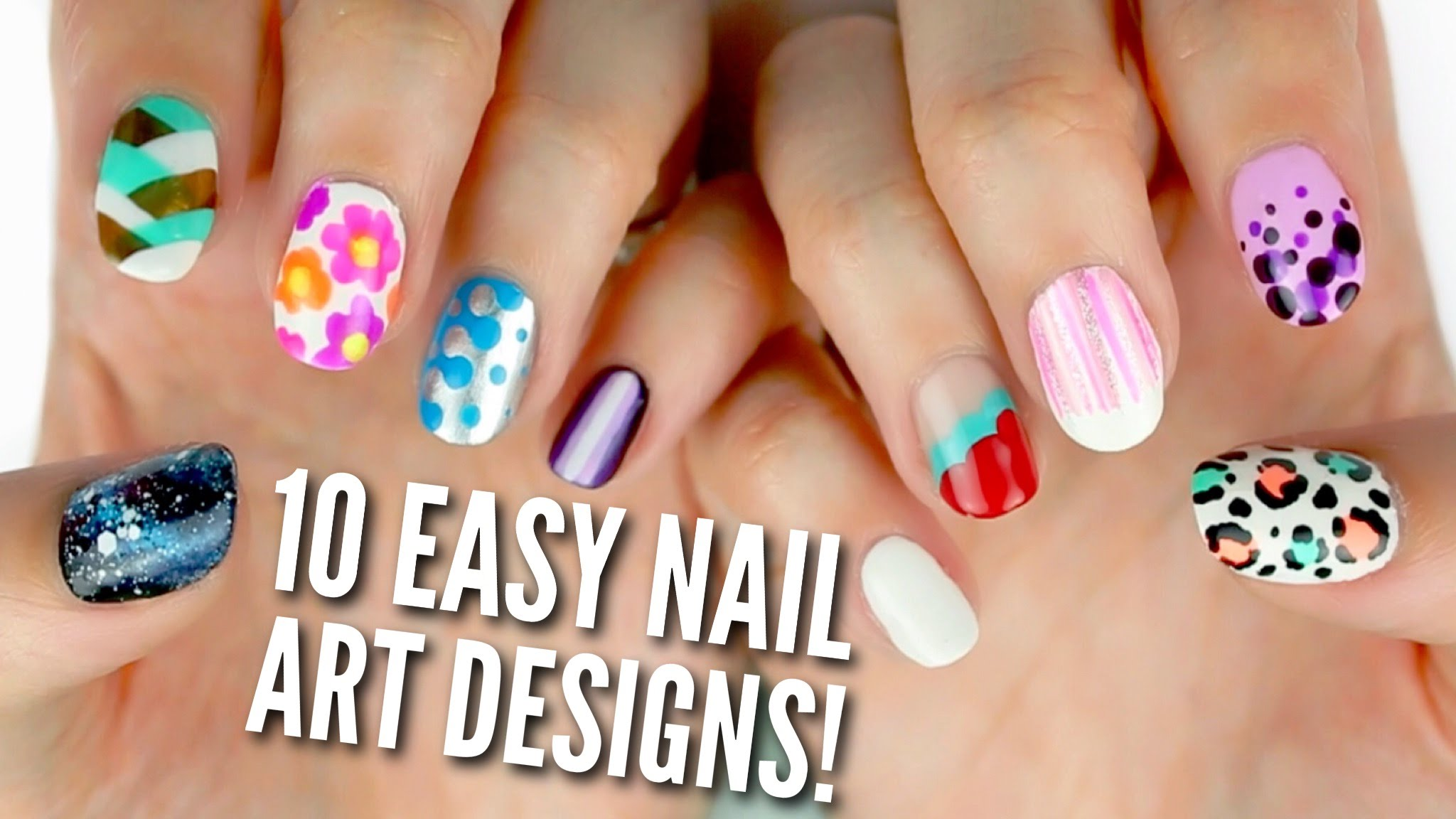 10 Easy Nail Art Designs for Beginners: The Ultimate Guide! YouTube